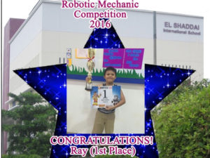 1ST PLACE WINNER (ROBOTIC MECHANIC COMPETITION)