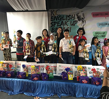 1ST PLACE WINNER (ENGLISH SPEAK UP CHALLENGE – BEKASI)